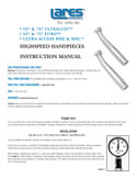Lares High Speed Handpiece Instruction Manual
